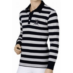 Polo Tattini Manches longues à rayures Homme